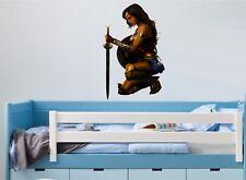 Wonder Woman Wall Art Sticker - 6 X Grande Taglie-Grande decalcomania per ogni stanza