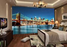 Brooklyn Bridge New York City Full Wall Mural Photo Wallpaper Print Home 3D Deca