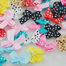 60pcs Dot Satin Ribbon Flowers Bows Gift Craft Wedding Decoration Upick A163