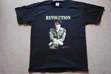 JOHN LENNON REVOLUTION PHOTO COMBATS SIGNATURE T SHIRT NEW OFFICIAL BEATLES