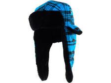 New Era Poptrap Blue Jewel Trapper Buffalo Plaid Dogear Hat Cap Down Ear Flap NE