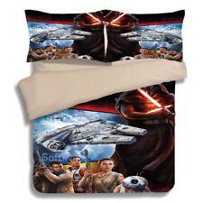Star Wars Quilt/Doona/Duvet Cover Set Single/Queen/King Size Bed Pillowcase