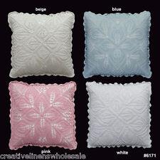 "Handmade Cotton Crochet Pillow Cushion Cover 16x16"" Square,Beige,Blue,Pink,White"