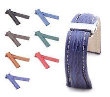 BOB Faltschließband Echt Hai kompatibel Breitling, 20-24 mm, 7 Farben, neu!