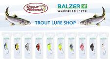 Balzer - Forellen Wobbler Trout Crank mit Einzelhaken = 2g in versch. Farben