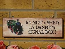 PERSONALISED GARDEN SHED SIGN MODELLING SHED MODEL TRAINS OO GAUGE N GAUGE LOCO