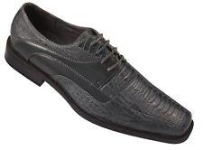 Men's High Quality Fashion Dress Shoes Snake Pattern Grey Size 8.5~13 5748