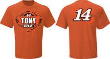 2015 TONY STEWART #14 BASS PRO SHOP ORANGE FAN UP NASCAR TEE SHIRT