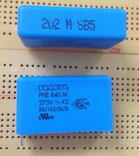 47nF 100nF 220nF 1uF 2.2uF 4.7uF 275VAC 760V dc X2 Capacitor PHE840M MKP