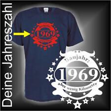 Baujahr XXXX Wunschtext aber wenig Kilometer, Geburtstags Fun T-Shirt (FSG027)