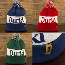 Durkl Winston Pom-pom beanie Hat, Warm Winter Bob Hat One Size Blue, Red, Green