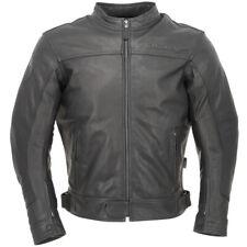 Richa Cafe Leather Motorcycle Motorbike Jacket - Black