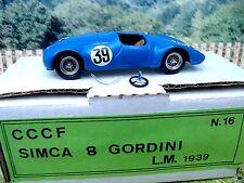 1/43 CCCF (France) Simca 8 Gordini LM 1939