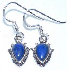 LAPIS Lazuli 925 Sterling SILVER Earring Drop Earrings Antique style Jewellery