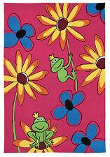 Kinderteppich Happy Kids Eddy Frosch pink ca. 80/140cm