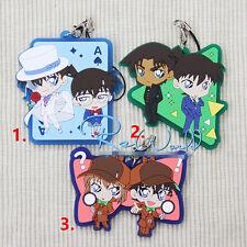T244 Anime Detective Conan rubber Keychain Key Ring Rare
