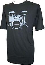 Espionage Drum Kit Round Neck T-Shirt Black