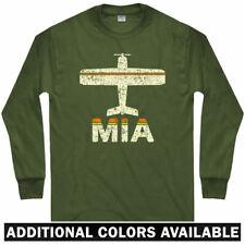 Fly Miami MIA Airport Long Sleeve T-shirt - Florida Heat Beach - LS Men / Youth