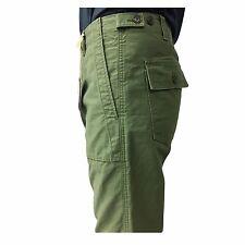 ASPESI pantalone uomo vita alta verde mod FATIGUE A CP13 F202 con bottoni