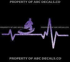 VRS HEART BEAT LINE JET SKI PWC Water Craft Guy Waverunner CAR METAL DECAL