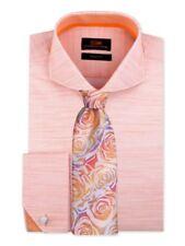 Dress Shirt by Steven Land Cutaway Collar French Cuff-Peach-TA1849-PE