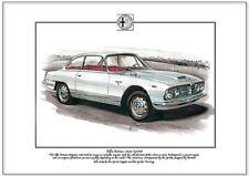 ALFA ROMEO 2600 SPRINT - Fine Art Print A4 size - Italian Saloon Car by Bertone
