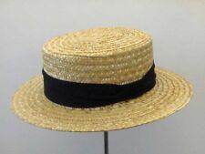 Cappello a Paglietta basic Boater Hat nastro nero
