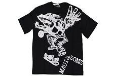 T-shirt da bambino nera MauiAndSons manica corta girocollo cotone squalo junior