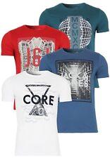 Jack & Jones Herren T-Shirt Jjcoandrew Tee Crew Neck | Aufdruck Clubwear Sport