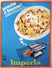 Pubblicità originale 1967 MACHINA PER PASTA IMPERIA tagliatelle lasagne VAJRA