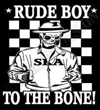 Rude Boy T-Shirt Skinhead Reggea Ska 2tone The Specials Madness 70s 60s Mod