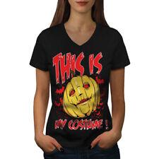 Halloween Costume Horror Women V-Neck T-shirt NEW | Wellcoda