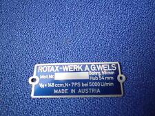 Id Nameplate Lohner Rotax 148 cc Motor