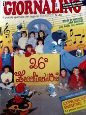 Giornalino 46 1983 Gianburrasca di G. De Luca -I Puffi - Popey + inserto Conosce