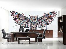 3D Owl Pattern 725 Wallpaper Mural Paper Wall Print Wallpaper Murals UK Lemon