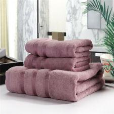 Bamboo Fiber Soft Bath Towel Solid Bathroom Bale Face Home Bath Towel 3PCS