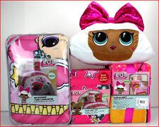4/ 6 pcs - LOL Surprise Glitterful Comforter + Sheet Set + Blanket + DIVA Pillow