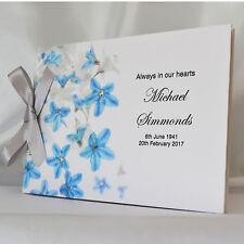 Personalised Book of Condolence Bereavement Funeral Guest Book Scrapbook Album