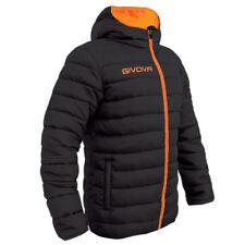 giubbino givova olanda NERO/ARANCIO FLUO calcio piumino jacket freetime