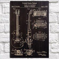 Guitar art print Guitar gift for Men Boyfriend Him Panel effect Wood wall art