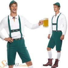 Mens Oktoberfest German Beer Man Lederhosen Bavarian Fancy Dress Costume Outfit