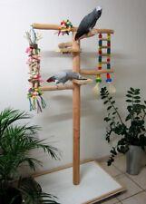 Papageienspielzeug Freisitz, wahlw. aus Rotbuche, Javaholz od. Haselnuss, 165 cm