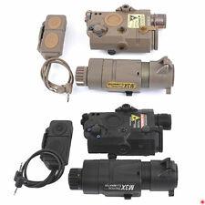 Tactical Airsoft PEQ15 M3X Dual Control Red Laser Indicator & Flashlight