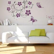 STICKER MURAL Vrille Marlene Fleurs Papillon Stickers Muraux