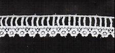 """Vintage Venise Lace Cotton Trim Crafts Creft Quilt Doll Baby 5yd 1"""" 1011"""
