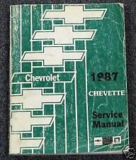 1987 GM Chevy Chevette Service Repair Shop Manual