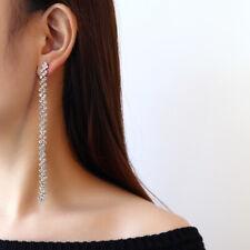 Stunning Bridal Long Drop Rhinestone Crystal Earring Tassel Dangle Party Jewelry