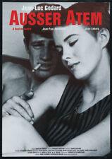 Jean-Luc Godard's Breathless Belmondo Seberg poster print #12