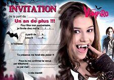 5 ou 12 cartes invitation anniversaire chica vampiro REF 324++
