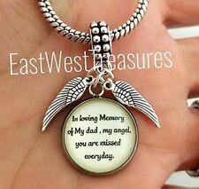 Father dad Memory Memorial loss Pendant for bracelet necklace-European